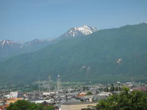 初夏の常念岳